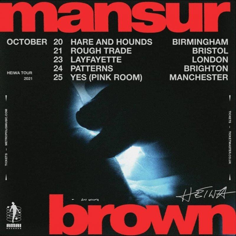 Mansur Brown at Lafayette on Sat 23rd October 2021 Flyer