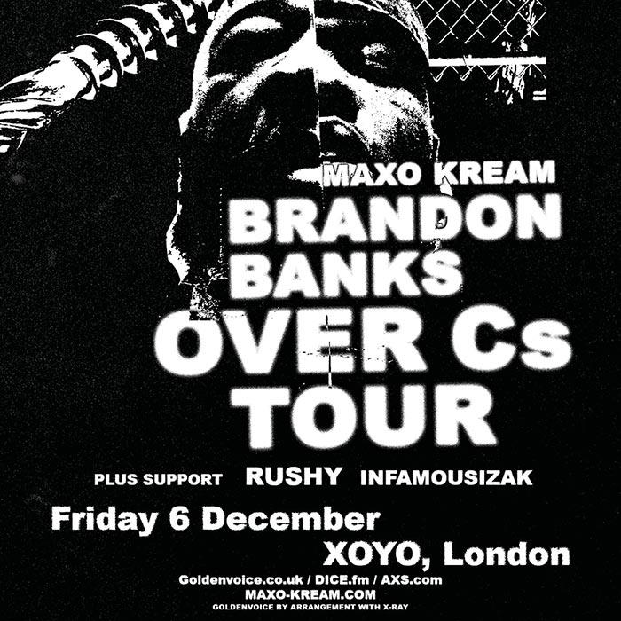 Maxo Kream at XOYO on Fri 6th December 2019 Flyer