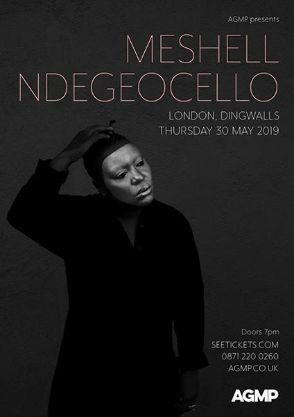 Meshell Ndegeocello at Dingwalls on Thu 30th May 2019 Flyer