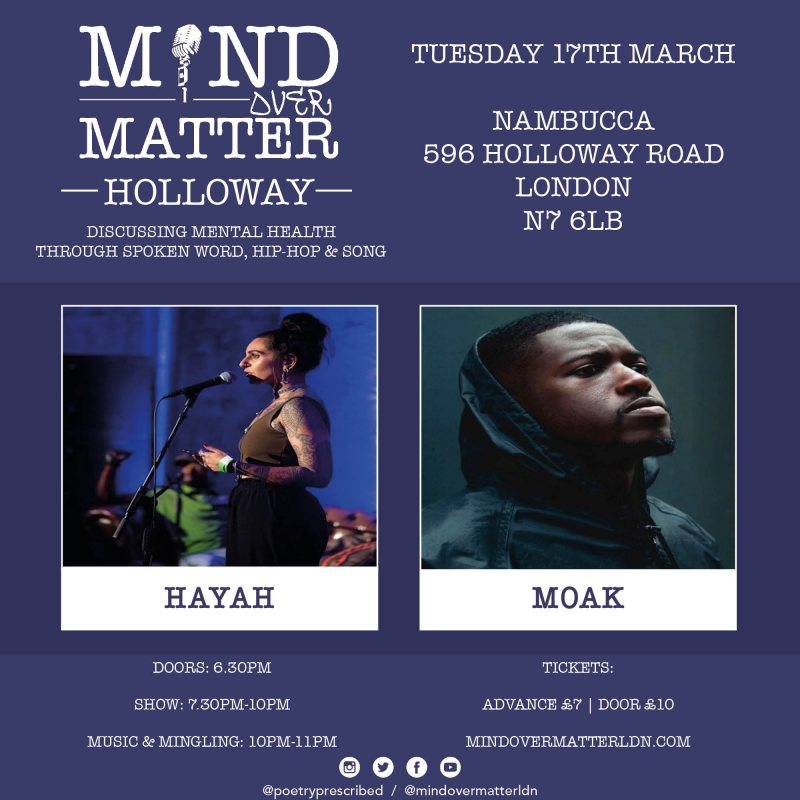 Mind Over Matter at Nambucca on Tue 17th March 2020 Flyer