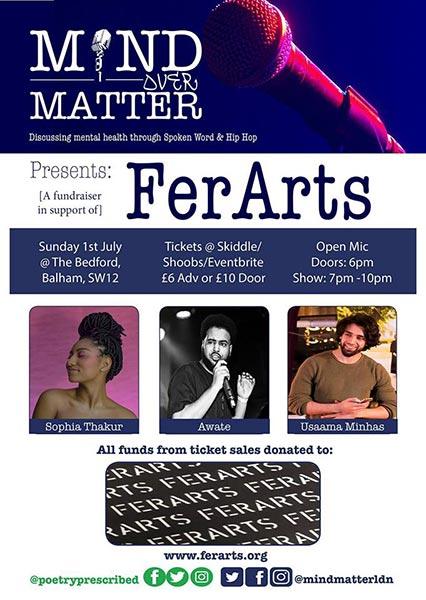 Mind Over Matter at The Bedford on Sun 1st July 2018 Flyer