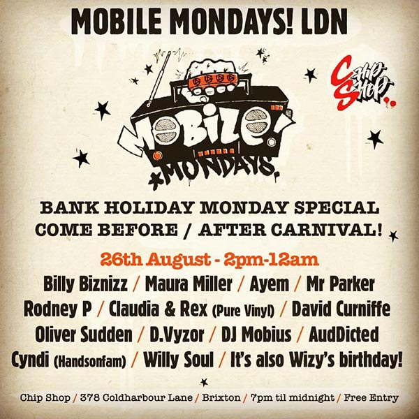 Mobile Mondays LDN at Chip Shop BXTN on Mon 26th August 2019 Flyer