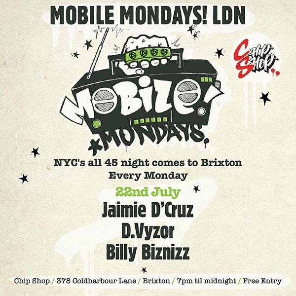 Mobile Mondays LDN at Chip Shop BXTN on Mon 22nd July 2019 Flyer