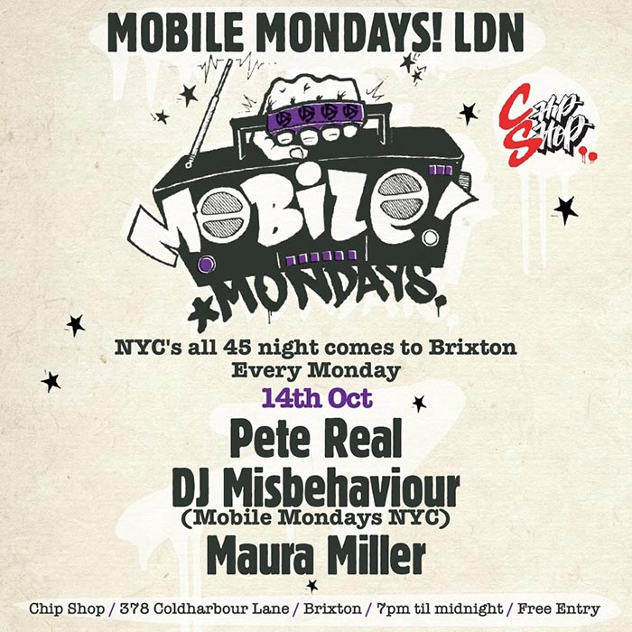 Mobile Mondays LDN at Chip Shop BXTN on Mon 14th October 2019 Flyer