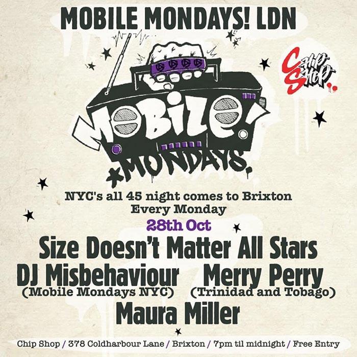Mobile Mondays LDN at Chip Shop BXTN on Mon 28th October 2019 Flyer