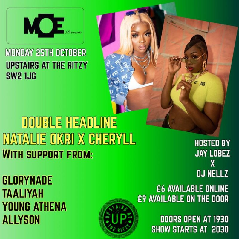 MOE Presents at The Ritzy on Mon 25th October 2021 Flyer