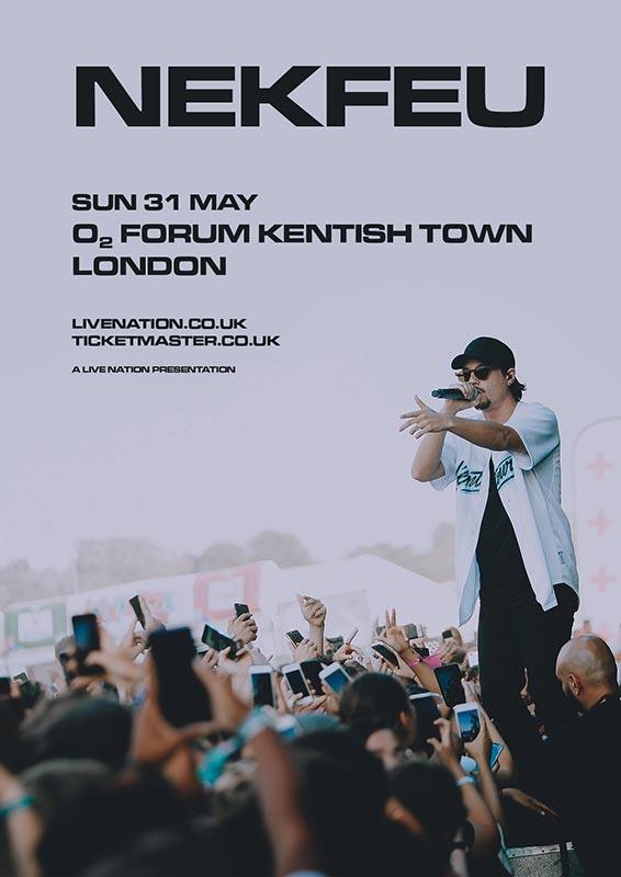 Nekfeu at The Forum on Sun 31st May 2020 Flyer