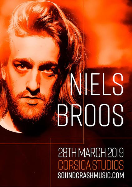 Niels Broos  at Corsica Studios on Thu 28th March 2019 Flyer