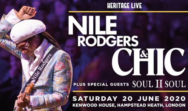Nile Rodgers & Chic at Kenwood House on Sat 20th June 2020 Flyer