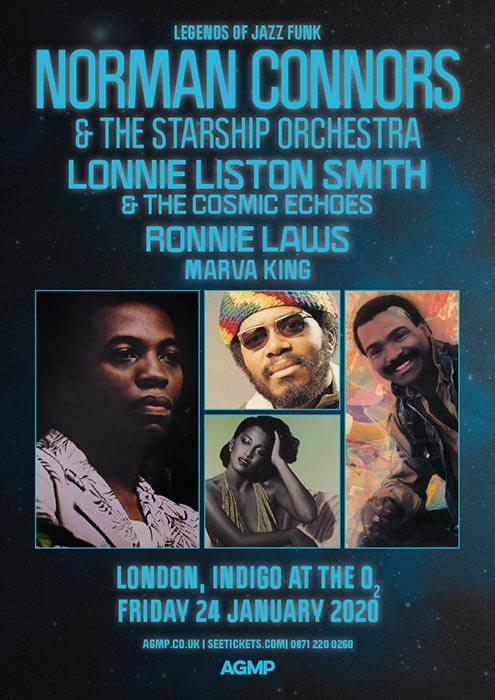 Norman Connors at Indigo2 on Friday 24th January 2020 Flyer