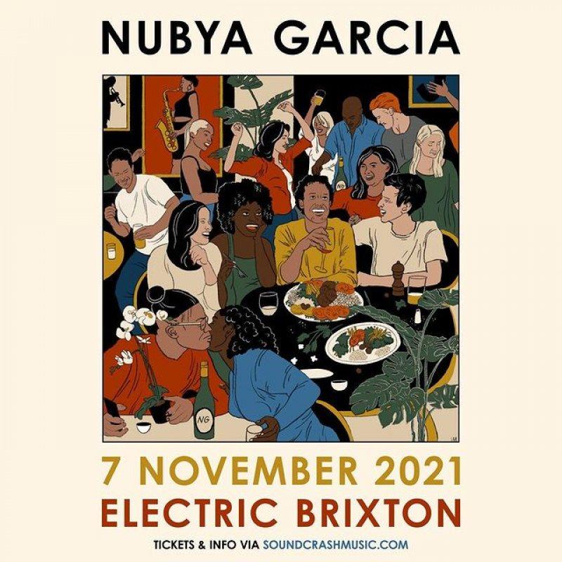 Nubya Garcia at Electric Brixton on Sun 7th November 2021 Flyer