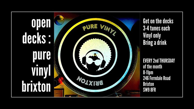 Open Decks at Pure Vinyl on Thu 13th February 2020 Flyer