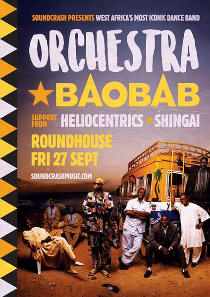 Orchestra Baobab at The Roundhouse on Fri 27th September 2019 Flyer
