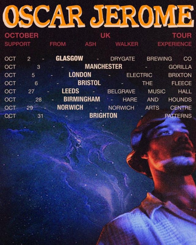Oscar Jerome at Electric Brixton on Tue 5th October 2021 Flyer
