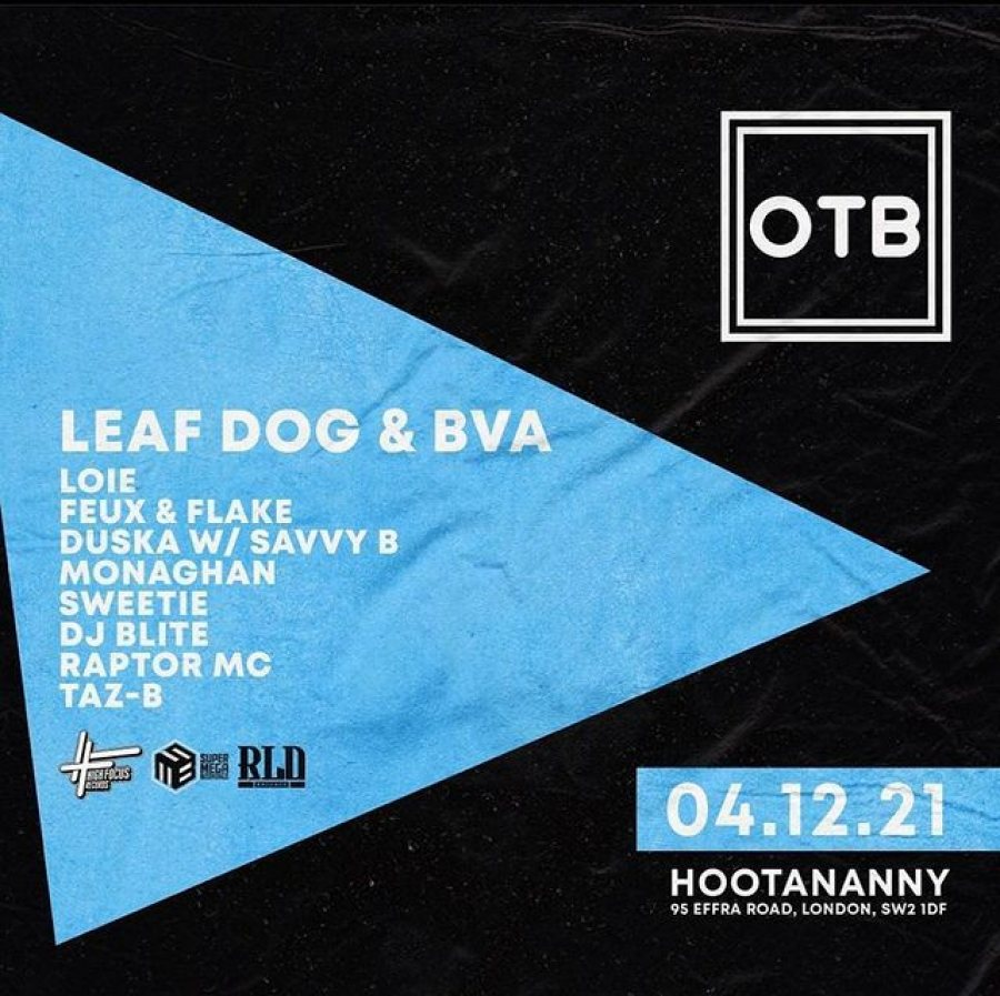 Out the Box at Hootananny on Sat 4th December 2021 Flyer