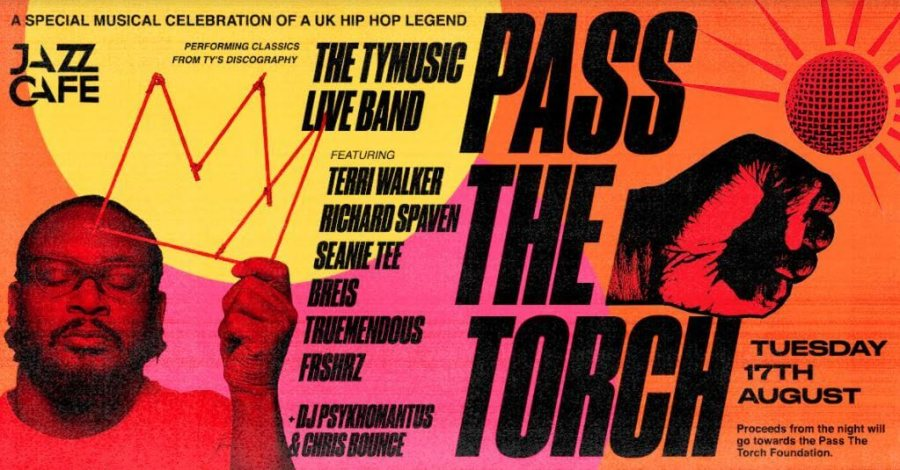 Pass the torch for TY at Jazz Cafe on Tue 17th Aug 2021