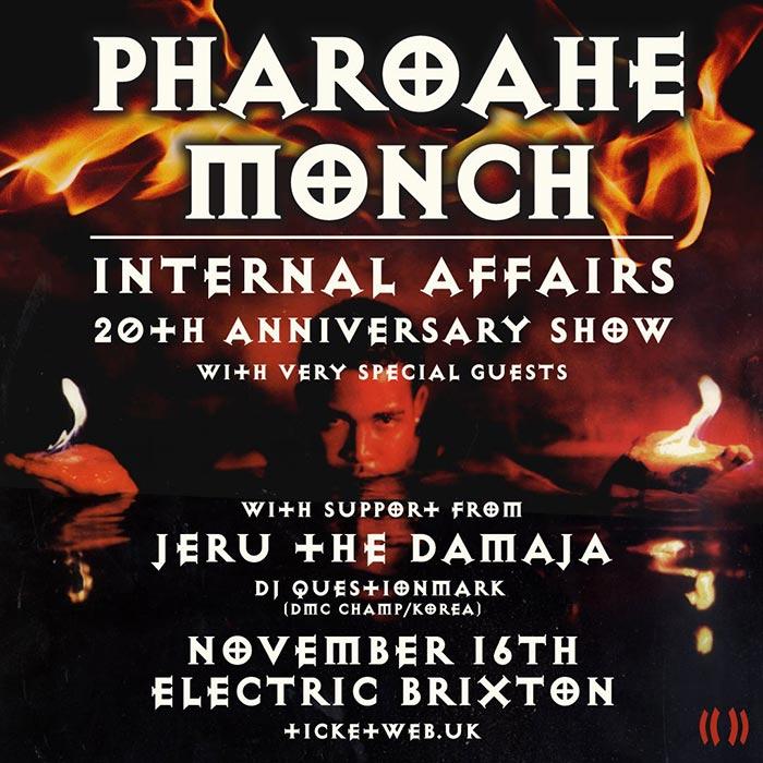Pharoahe Monch at Electric Brixton on Sat 16th November 2019 Flyer