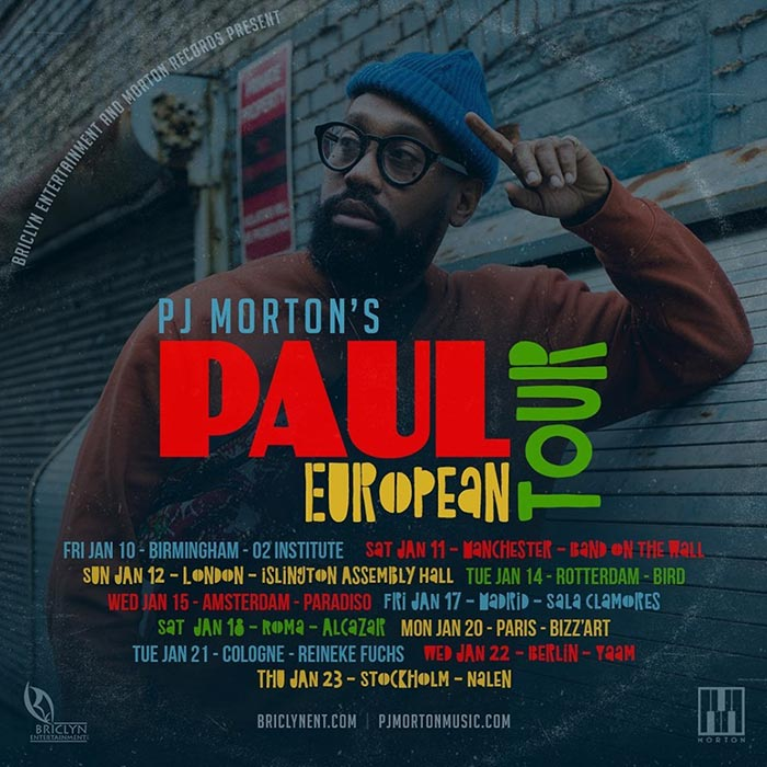 PJ Morton at Islington Assembly Hall on Sun 12th January 2020 Flyer