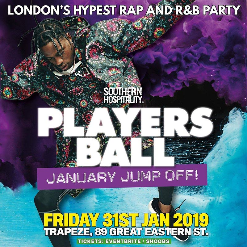 Players Ball at Trapeze on Fri 31st January 2020 Flyer