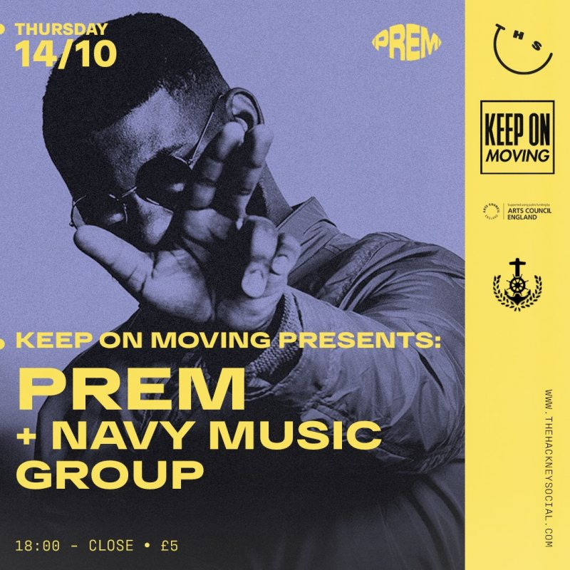 PREM at The Hackney Social on Thu 14th October 2021 Flyer
