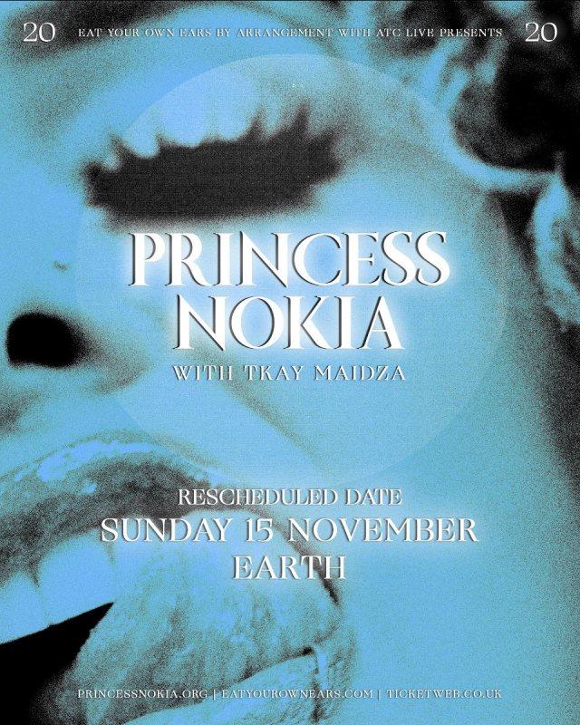 Princess Nokia at EartH on Sun 15th November 2020 Flyer