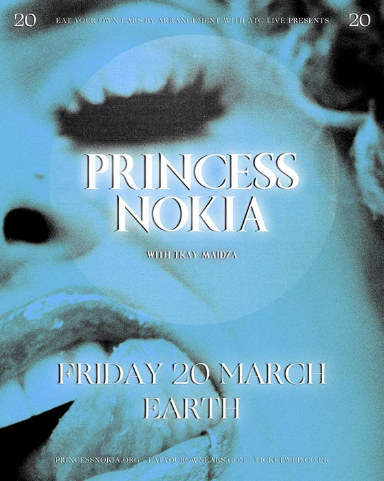 Princess Nokia at EartH on Fri 20th March 2020 Flyer