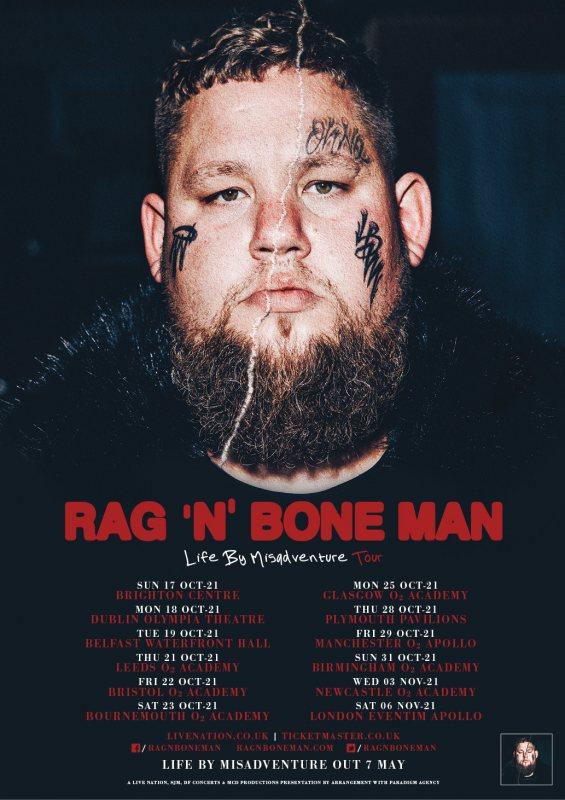 Rag'n'Bone Man at Hammersmith Apollo on Sat 6th November 2021 Flyer