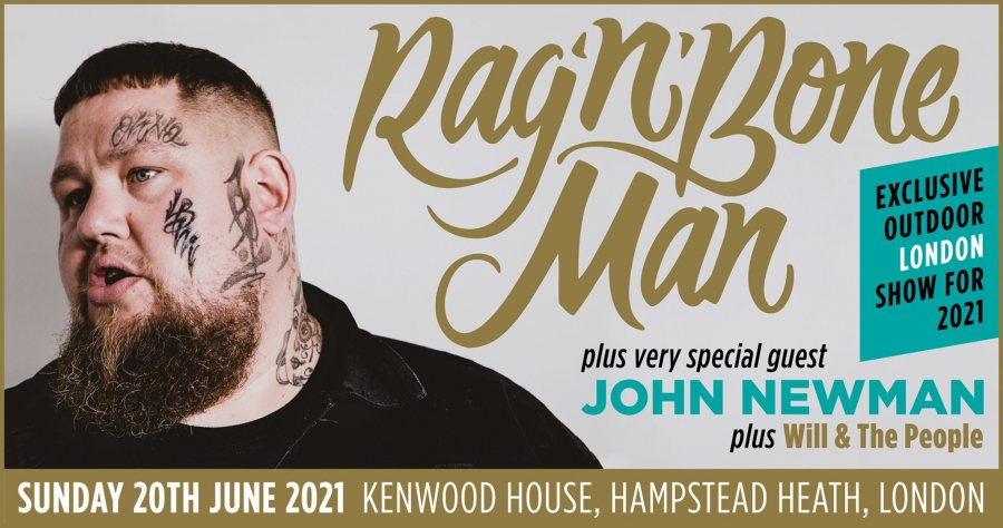 Rag'n'Bone Man at Kenwood House on Sun 20th June 2021 Flyer