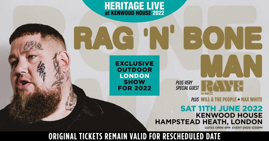 Rag'n'Bone Man at Kenwood House on Sat 11th June 2022 Flyer