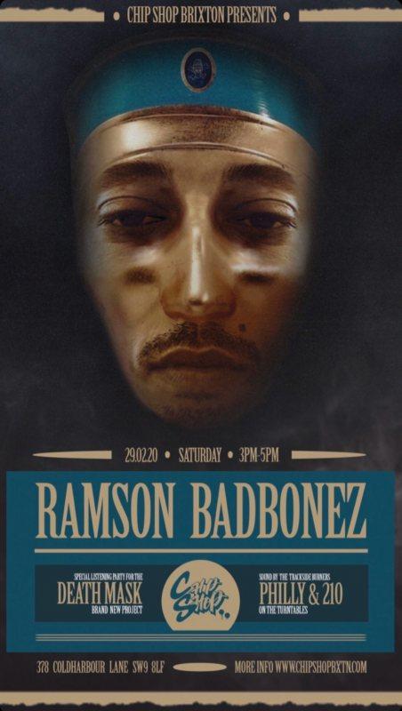 Ramson Badbonez at Chip Shop BXTN on Sat 29th February 2020 Flyer