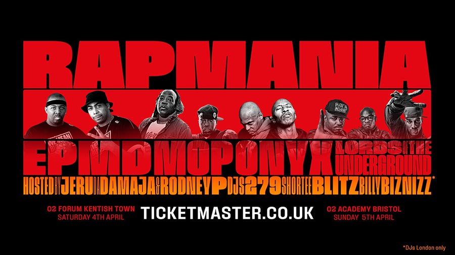 Rap Mania at The Forum on Sat 4th April 2020 Flyer