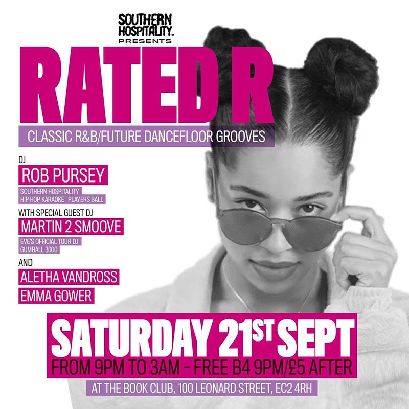 Rated R at Book Club on Sat 21st September 2019 Flyer