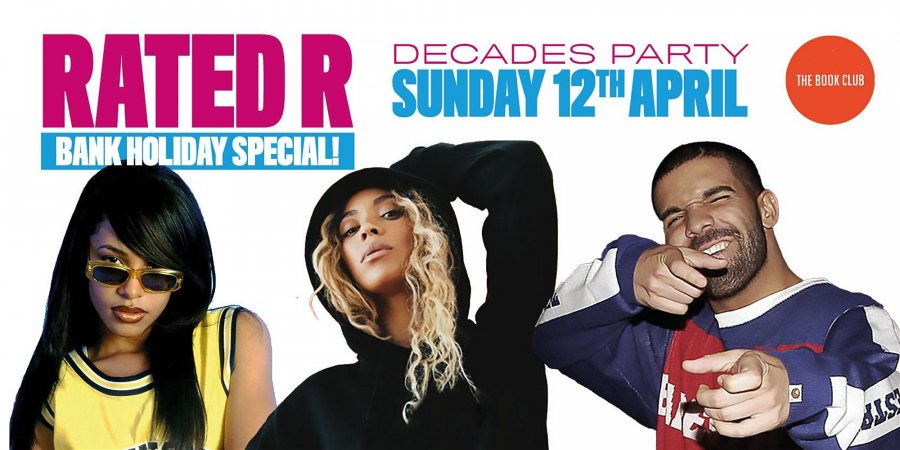 Rated R at Book Club on Sun 12th April 2020 Flyer