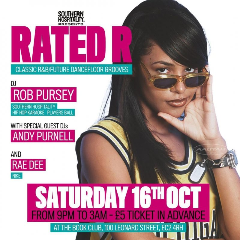 Rated R at Book Club on Sat 16th October 2021 Flyer