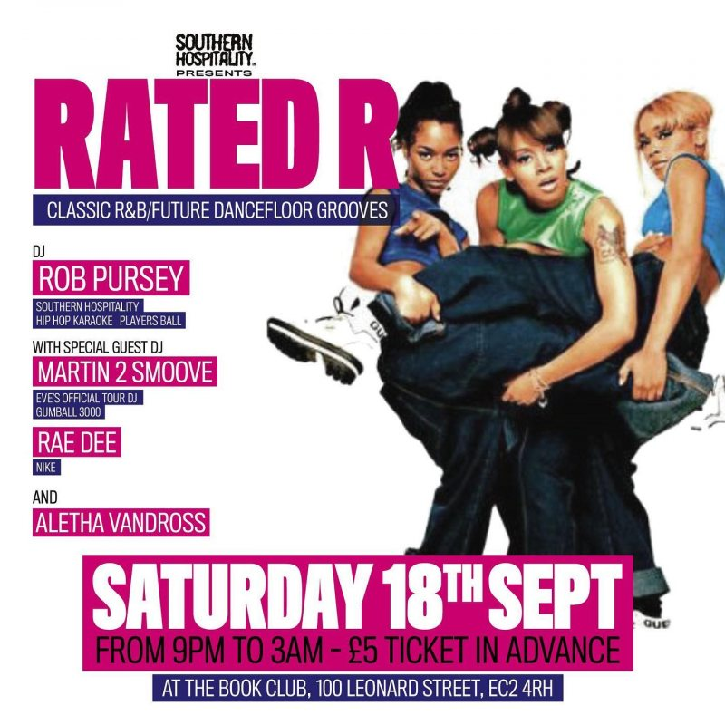 Rated R at Book Club on Sat 18th September 2021 Flyer