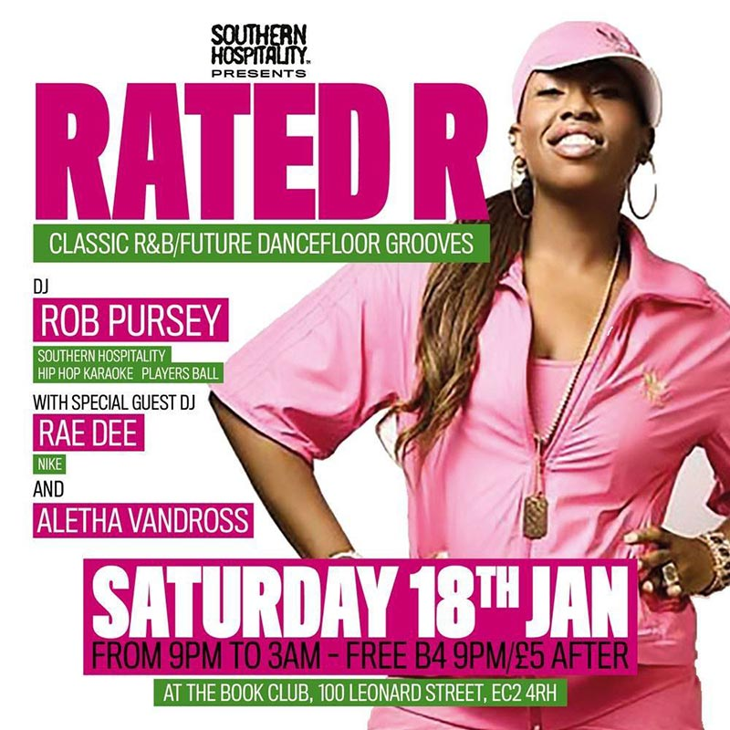Rated R at Book Club on Sat 18th January 2020 Flyer