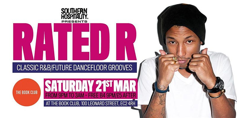 Rated R at Book Club on Sat 21st March 2020 Flyer