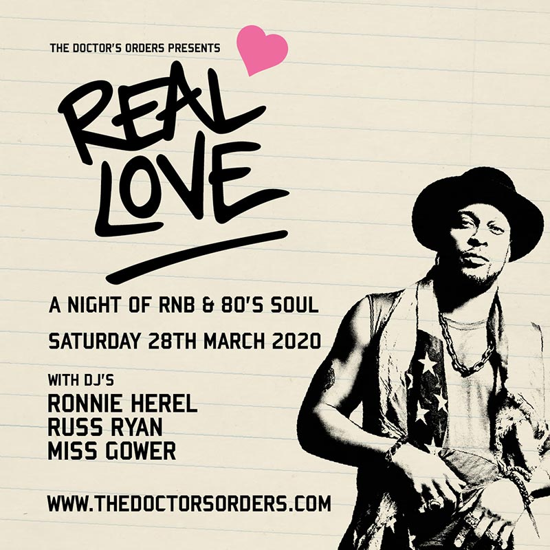 Real Love at Ace Hotel on Sat 28th March 2020 Flyer