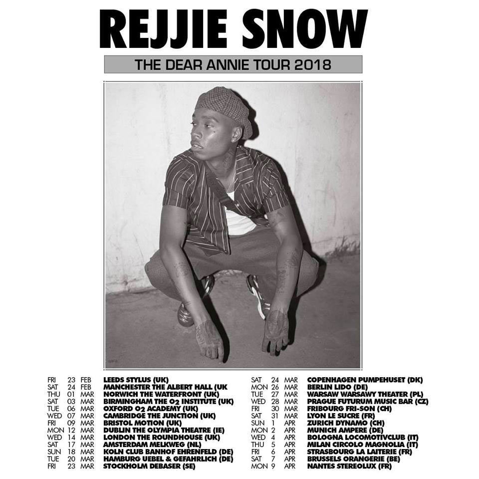 Rejjie Snow at The Roundhouse on Wed 14th March 2018 Flyer