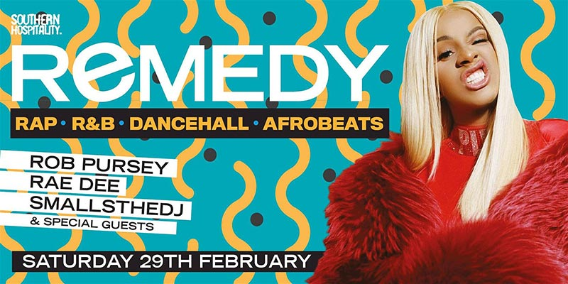 Remedy at Concrete on Sat 29th February 2020 Flyer