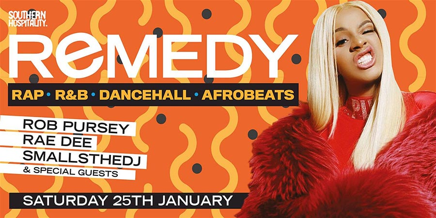 Remedy at Concrete on Sat 25th January 2020 Flyer