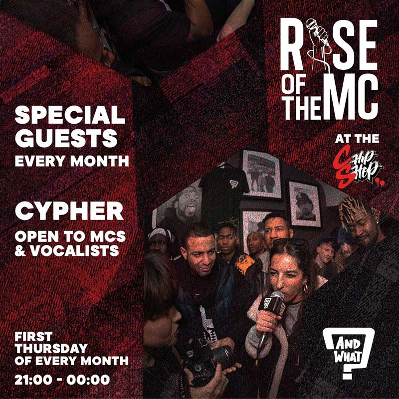 Rise of the MC at Chip Shop BXTN on Thu 5th August 2021 Flyer
