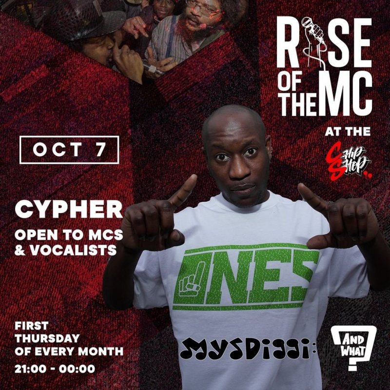 Rise of the MC at Chip Shop BXTN on Thu 7th October 2021 Flyer