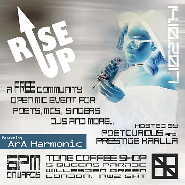 RISE UP w/ ArA Harmonic at TONE on Sat 14th October 2017 Flyer