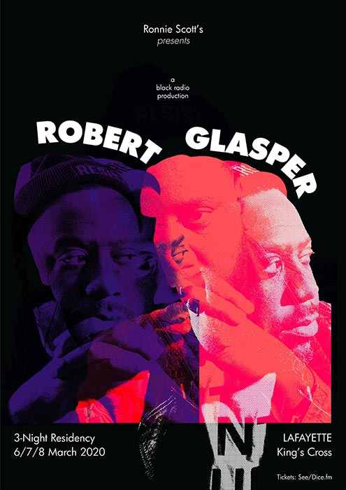 Robert Glasper at Lafayette on Sun 8th March 2020 Flyer
