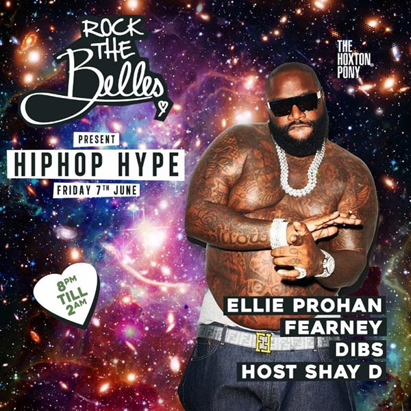 Rock The Belles x Hiphop Hype Hoxton at The Hoxton Pony on Fri 7th June 2019 Flyer