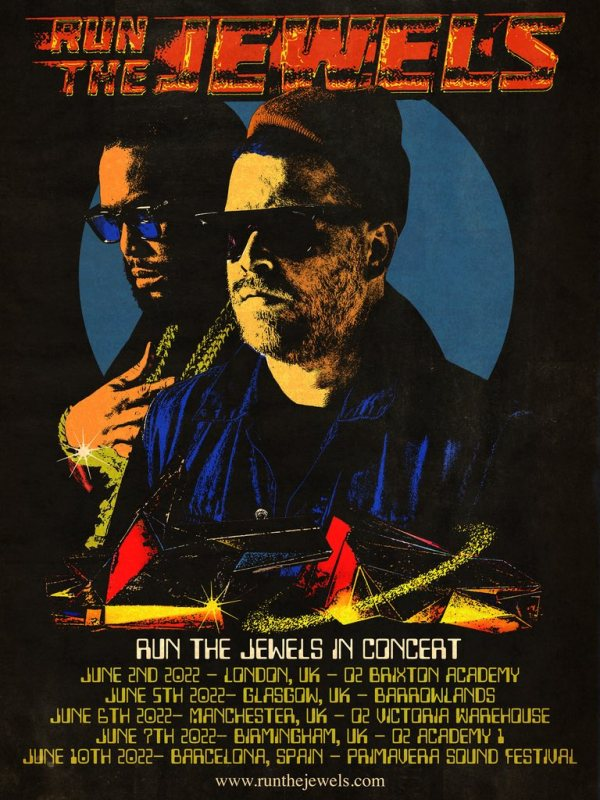 Run the Jewels at Brixton Academy on Thu 2nd June 2022 Flyer