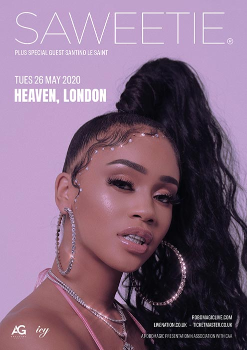 Saweetie at Heaven on Tue 26th May 2020 Flyer