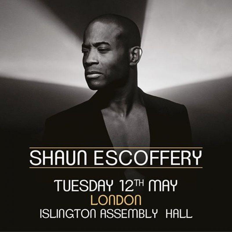 Shaun Escoffery at Islington Assembly Hall on Tue 12th May 2020 Flyer