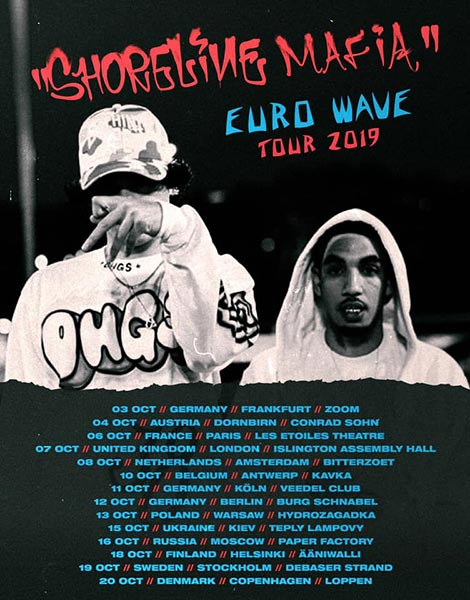 Shoreline Mafia at Islington Assembly Hall on Mon 7th October 2019 Flyer